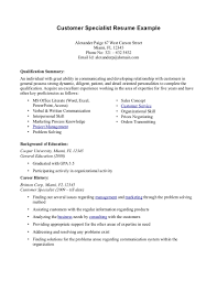 Resume Examples For Jobs With No Experience Summary Qualifications Resume Examples Free Resume Example And