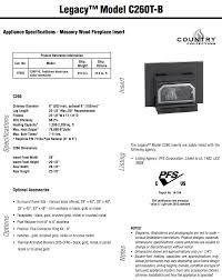 ironstrike legacy c260 fireplace insert by obadiah u0027s woodstoves