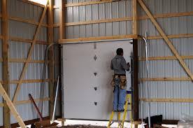 How To Install An Overhead Door Pole Barn Garage Door Install Geekgorgeous