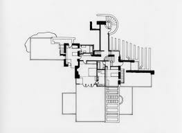 Frank Lloyd Wright 2d Site Plan Drawing Example Featuring Ground