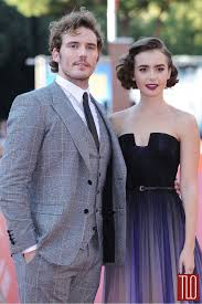 tom collins guy sam claflin and lily collins at the