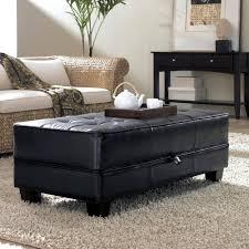 sofa round tufted ottoman leather storage bench white storage