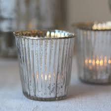 mercury tea light holders ribbed mercury silver glass tea light holders the wedding of my dreams
