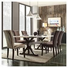 Harper Metal Top Trestle Dining Table Homelegance  Target - Trestle kitchen table