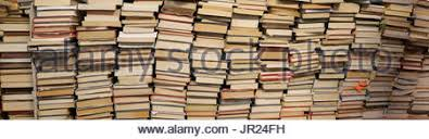 Used Bookshelf Lots Of Stacked Old Books On White Stock Photo Royalty Free Image