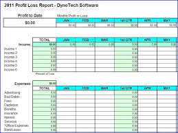 Profit And Loss Spreadsheet Template by Profit And Loss Account Excel Profit Loss Statement Templates