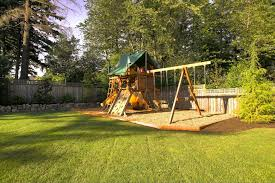 cool wooden playsets in kids traditional with wrought iron fence