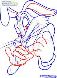 draw gangster bugs bunny step image tattooing tattoo