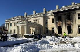 fire damages historic woolworth mansion wsj