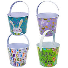 easter pails gift boutique tin easter pail set of 4 baskets