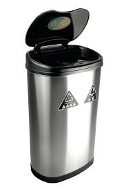 dual trash containers black wheeled trash can with lid dual