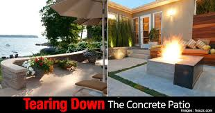 modern patio modern patio design how to rip out the concrete patio