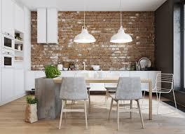 interior decor kitchen interior decoration open plan kitchen with brown dining table