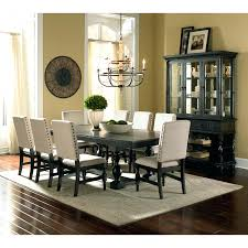 two tone dining room sets homelegance three falls rectangular dining table two tone dark