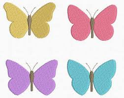 mini butterfly machine embroidery design 4 designs by 3 sizes