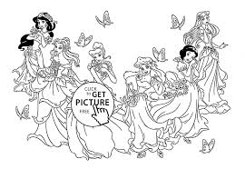 disney princesses coloring page free download