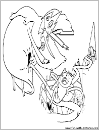 iceking finn coloring page