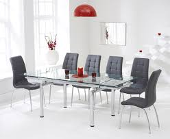 Red Faux Leather Dining Chairs Grey Faux Dining Chairs Koln Dining Chair In Grey Faux Leather In