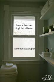 Vinyl Curtains For Bathroom Window Diy Window Vinyl Decal Diy Show Diy Decorating And Home