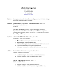 human resources objective for resume resume
