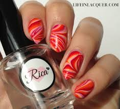 life in lacquer water marble nail art decals
