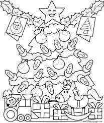 free christmas tree coloring pages christmas lights decoration