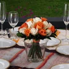 roses centerpieces orange wedding centerpiece orange white roses centerpieces