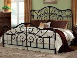 modern cream interior iron bed room design can be decor with and