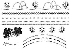 bracelet designs tattoo images Tattoo stickers designs leaves pearl necklace bracelet high jpg
