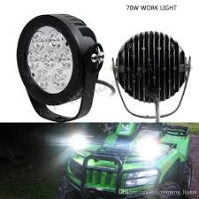 best construction work lights pair 6in 70w round driving headlight truck trailer transportation