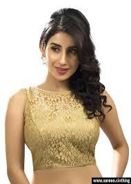 golden blouse fancy gold fabric sleeveless sari blouse fabric
