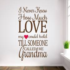 grandma s love wall vinyl stickers decal diy wall decals grandma s love wall vinyl stickers decal diy