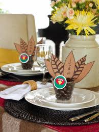 party favors ideas thanksgiving place card and party favor hgtv