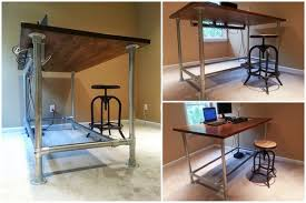 build adjustable table legs diy standing desk is the best diy adjustable height table is the