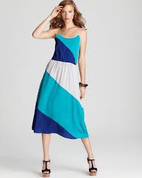 cool dresses aqua dress color block midi 100 exclusive bloomingdale s