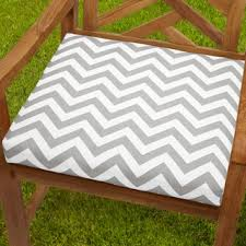 bristol 20 inch indoor outdoor grey chevron chair cushion set