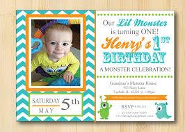 Design Your Own Invitations 1st Birthday Monster Invitations Vertabox Com