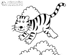dessins de coloriage tigre maternelle à imprimer