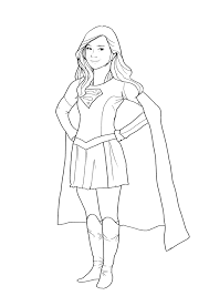 superwoman coloring pages supergirl coloring pages free download