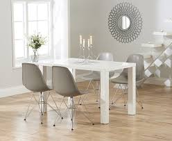 Dining Chairs Atlanta Buy The Atlanta 120cm White High Gloss Dining Table With Charles