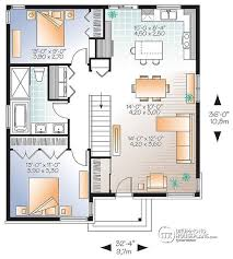 small house plans with open floor plan small open floor house plan w3129 v1 detail from drummondhouseplans com