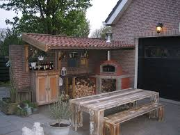 backyard pizza oven home outdoor decoration