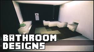 minecraft bathroom designs ideas youtube
