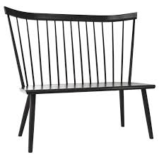 colt settee bench from o u0026g ebony stain on ash american modern