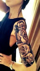 half sleeve black roses black roses