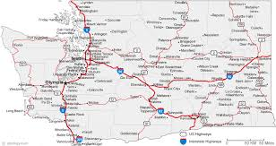 map of oregon freeways map of washington cities washington road map