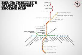Map Of Atlanta Airport by Barta Atlanta U0027s First Transit Booze Map Thrillist
