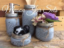 painted mason jars mason jar kitchen set kitchin decor rustic