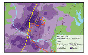 Austin Downtown Map by The Overhead Wire Austin Route Choice Part 3 The Guadalupe Lamar