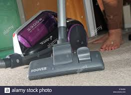 Hover Vaccum Powerful Pull Along Hoover Vacuum Cleaner Being Used On Domestic